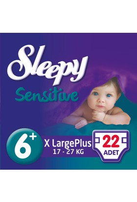 Sleepy Sensitive Bebek Bezi 6+ Beden XL Plus Jumbo Paket 22 Adet