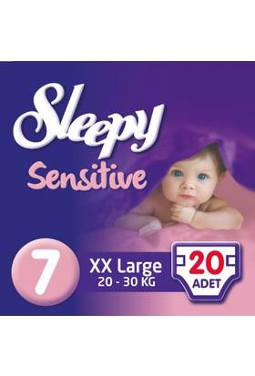 Sleepy Sensitive Bebek Bezi 7 Beden XXL Jumbo Paket 20 Adet