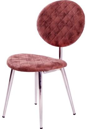 Evform Tango Kumaş Döşeme Sandalye Kahverengi