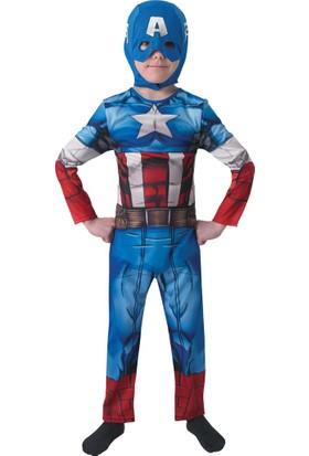 Lisanslı Captain America Kostüm L Beden 7-8 Yaş