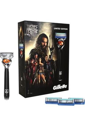 Gillette Fusion ProGlide Flexball Justice League Özel Paketi Tıraş Makinesi + 4'lü Tıraş Bıçağı