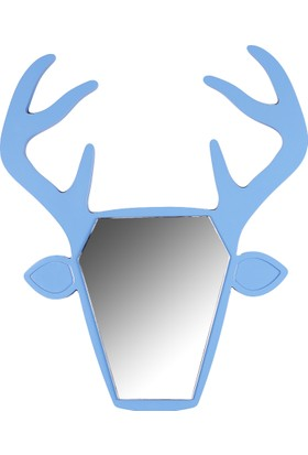 Gibi Design Wapiti Geyik Şekilli Ayna Mavi