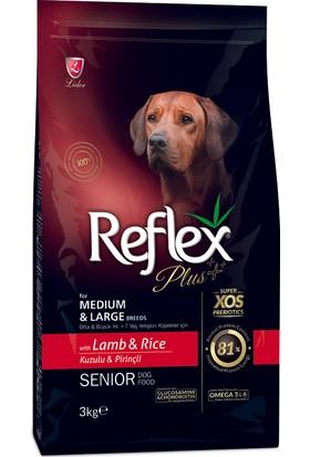 Reflex Plus Orta&Büyük Irk Kuzu&Pirinç Yaşlı Köpek Maması 3 Kg