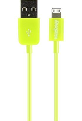 Energizer LCAEHUSYIPGR2 Lightning Usb 1m Yeşil Data + Şarj Kablosu - 13851