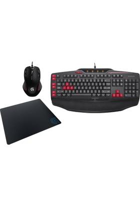 Logitech G103 Klavye + G300S Mouse + Oyuncu Mouse Pad