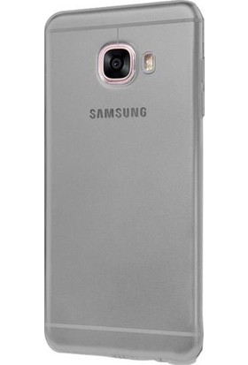 Case 4U Samsung Galaxy J7 Max Silikon Kılıf Füme / Siyah