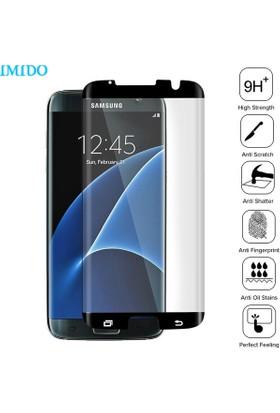 Case 4U Samsung Galaxy S7 Edge 3D Kavisli Cam Ekran Koruyucu Siyah