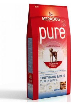 Meradog Junior Turkey and Rice Hindili Pirinçli Yavru Köpek Maması 12,5 Kg