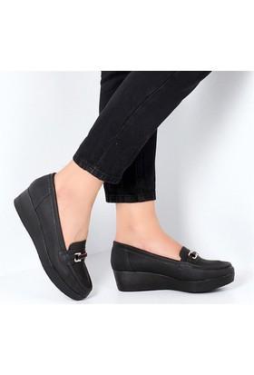 Pembe Potin Abella Siyah Kadın Ayakkabı