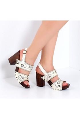 Pembe Potin Alita Beyaz Kadın Ayakkabı