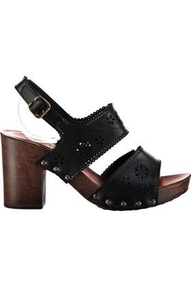 Pembe Potin Alita Siyah Kadın Ayakkabı