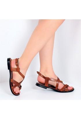 Pembe Potin Alaçatı Taba Kadın Sandalet