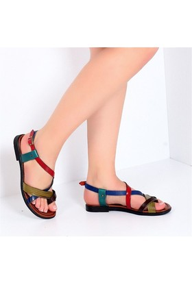 Pembe Potin Alaçatı Multi Kadın Sandalet