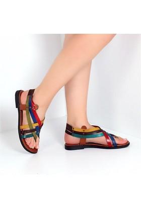 Pembe Potin Bodrum Multi Kadın Sandalet