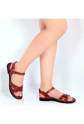Pembe Potin Cunda Taba Kadın Sandalet