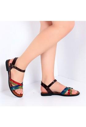 Pembe Potin Cunda Multi Kadın Sandalet
