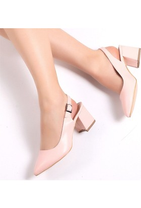 Pembe Potin Carolpudra Kadın Ayakkabı