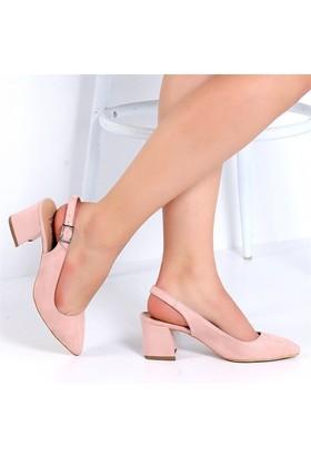 Pembe Potin Carolpudra Nubuk Kadın Ayakkabı
