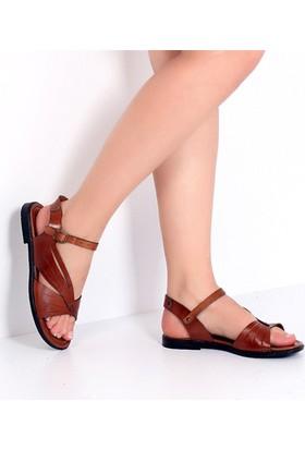 Pembe Potin Fethiye Taba Kadın Sandalet