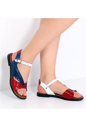 Pembe Potin Fethiye Multi Kadın Sandalet