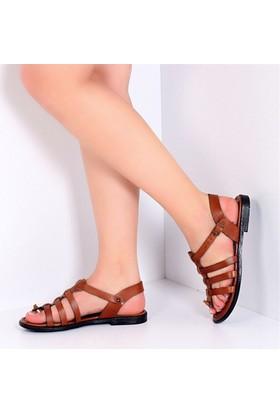 Pembe Potin Kaş Taba Kadın Sandalet