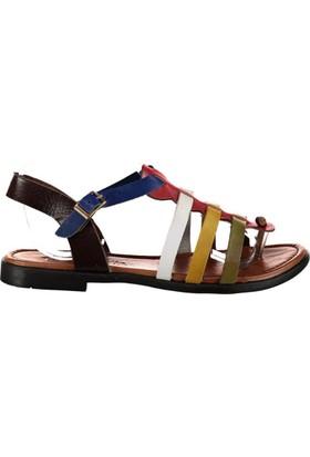 Pembe Potin Kaş Multi Kadın Sandalet