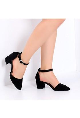 Pembe Potin Coralie Siyah Nubuk Kadın Ayakkabı