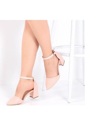 Pembe Potin Coralie Pudra Nubuk Kadın Ayakkabı