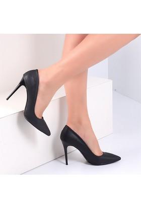 Pembe Potin İvana Siyah Baskı Kadın Ayakkabı