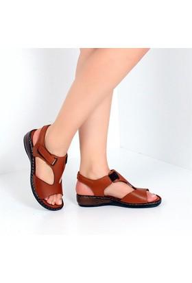 Pembe Potin Mabelle Taba Kadın Sandalet