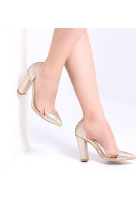 Pembe Potin Jasmin Dore Sim Kadın Ayakkabı
