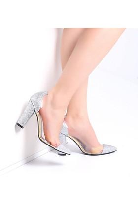 Pembe Potin Jasmin Lame Sim Kadın Ayakkabı