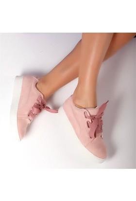 Pembe Potin Elita Pudra Nubuk Kadın Ayakkabı