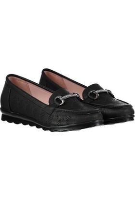 Pembe Potin Elicia Siyah Kadın Ayakkabı