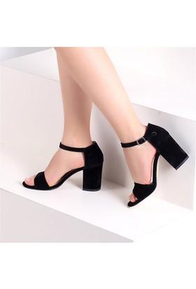 Pembe Potin Monique Siyah Nubuk Kadın Ayakkabı