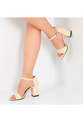Pembe Potin Monique Bej Kadın Ayakkabı