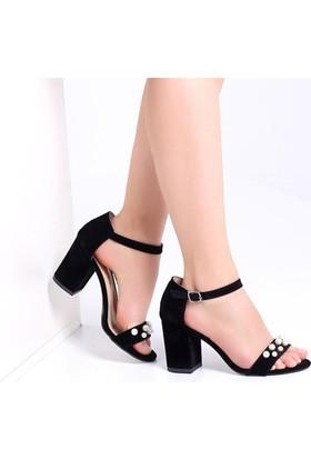 Pembe Potin Holly Siyah Nubuk Kadın Ayakkabı