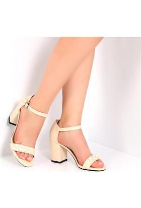 Pembe Potin Holly Bej Kadın Ayakkabı