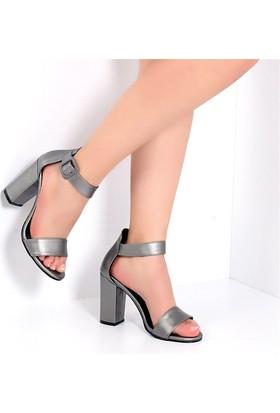 Pembe Potin Gisella Platin Kadın Ayakkabı