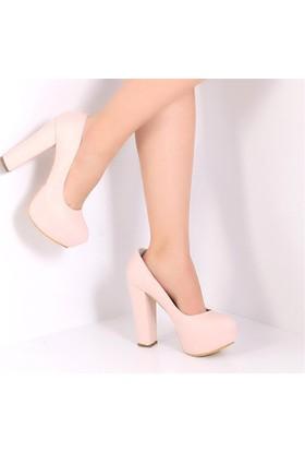 Pembe Potin Paris Pudra Kadın Ayakkabı