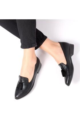 Pembe Potin Jannie Siyah Kadın Ayakkabı