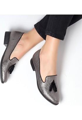 Pembe Potin Jannie Platin Kadın Ayakkabı