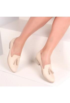 Pembe Potin Mae Bej Kadın Ayakkabı