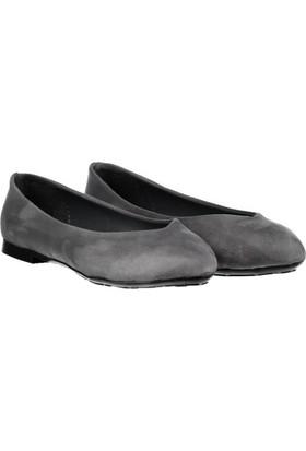 Pembe Potin Miranda Gri Nubuk Kadın Ayakkabı