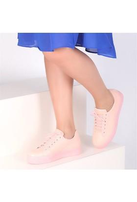 Pembe Potin Schiffer Pudra Kadın Ayakkabı