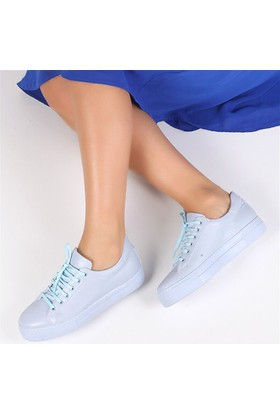 Pembe Potin Schiffer Mavi Kadın Ayakkabı