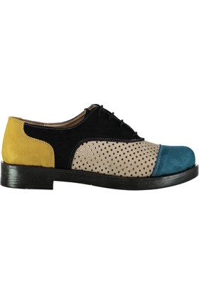 Pembe Potin İrina Siyah Kadın Ayakkabı