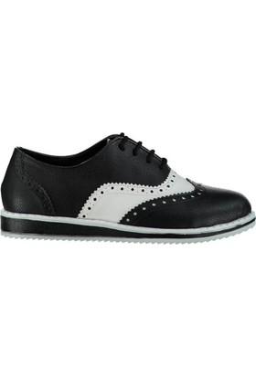 Pembe Potin Julie Siyah Beyaz Kadın Ayakkabı