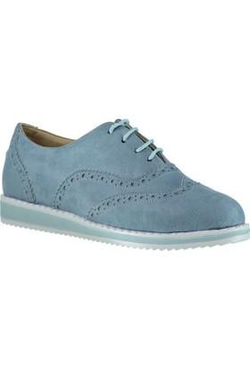 Pembe Potin Julie Mavi Nubuk Kadın Ayakkabı