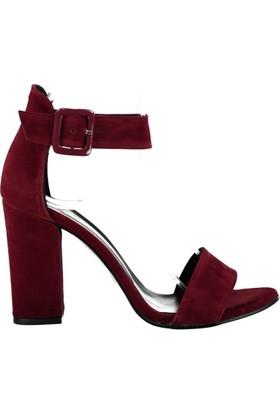 Pembe Potin Gisella Bordo Nubuk Kadın Ayakkabı